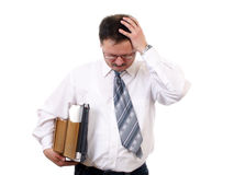Businessman with pain head Stock Photo