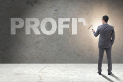 The businessman painting in business concept Royalty Free Stock Photos