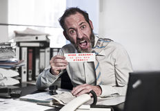 Businessman in Panic Stock Photography
