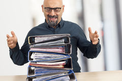 Businessman in panic Stock Images