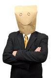 Businessman with a paper-bag Royalty Free Stock Photography
