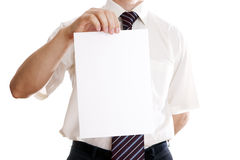 Businessman with paper Royalty Free Stock Photo
