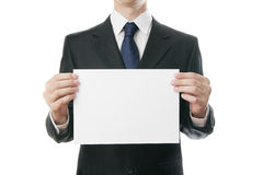 Businessman with paper Stock Photography