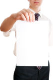 Businessman with paper Stock Image