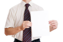 Businessman with paper Royalty Free Stock Photos