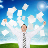 Businessman with paper Royalty Free Stock Photography