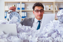 The businessman in paper recycling concept in office Royalty Free Stock Photos