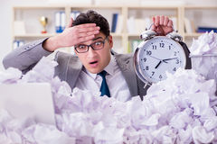 The businessman in paper recycling concept in office Royalty Free Stock Photography