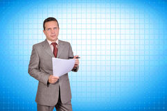 Businessman with paper Stock Photo