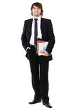 Businessman with papers and folders Royalty Free Stock Photos