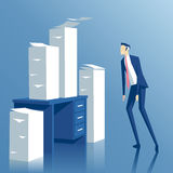 Businessman and paperwork Royalty Free Stock Images