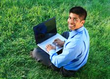 Businessman at the park Royalty Free Stock Photo