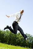 Businessman in the park. Royalty Free Stock Images