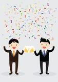 Businessman party Concept stock illustration