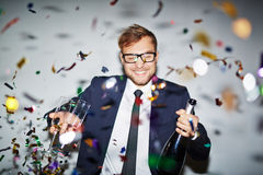 Businessman at party Stock Photography