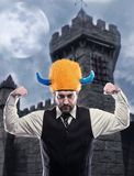 Businessman in party helmet Royalty Free Stock Photos