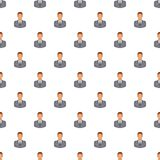 Businessman pattern, cartoon style. Businessman pattern. Cartoon illustration of businessman vector pattern for web Royalty Free Stock Photo