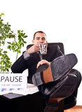 Businessman on pause Royalty Free Stock Photo