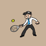 Businessman paying tennis Royalty Free Stock Photos