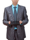 Businessman pc Royalty Free Stock Photography