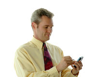 Businessman with PDA Royalty Free Stock Photos