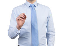 Businessman with pen Stock Photography