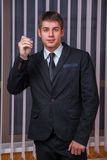 Businessman with pen Stock Photo