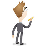 Businessman with pencil (back view) Stock Image