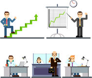 Businessman people in the office. Royalty Free Stock Photography