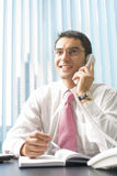 Businessman on phone Royalty Free Stock Images