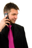 Businessman is on the phone Royalty Free Stock Photo