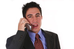 Businessman on the phone. Businessman in a suit on the phone Stock Images