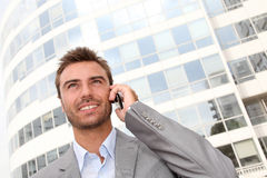 Businessman on the phone Stock Images