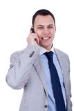Businessman on phone Royalty Free Stock Photo