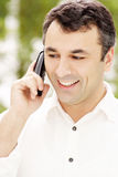 Businessman on phone. Business man talking on phone Royalty Free Stock Photo