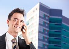 Businessman phone Stock Photos