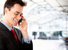 Businessman phone Royalty Free Stock Images