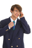 Businessman on phone. A businessman on the phone sealing a deal Stock Image