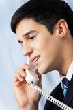 Businessman with phone Stock Photos