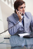 Businessman on the phone Stock Photography