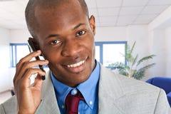 Businessman at phone Stock Photos