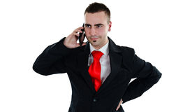 Businessman on the phone. Businessman talking  on the phone Stock Photo