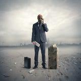 Businessman  at phone Royalty Free Stock Image