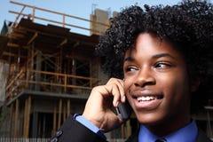 Businessman on the phone stock photos