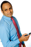 Businessman With Phone Stock Photography