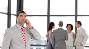 Businessman on the phone Stock Image