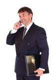 Businessman on phone Royalty Free Stock Photos
