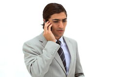A businessman on the phone Stock Images