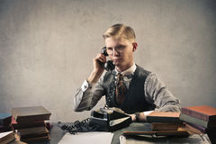 Businessman on the phone Royalty Free Stock Photos