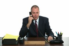 Businessman phone call Royalty Free Stock Images